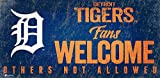 Detroit Tigers 12x6 Fans Welcome Wood Sign