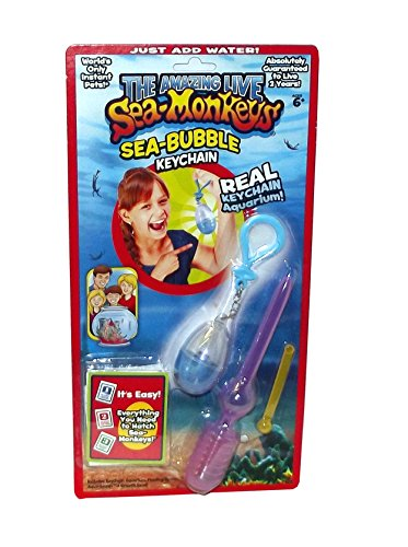 The Amazing Live Sea Monkeys Sea Bubble Keychain, 5 inches