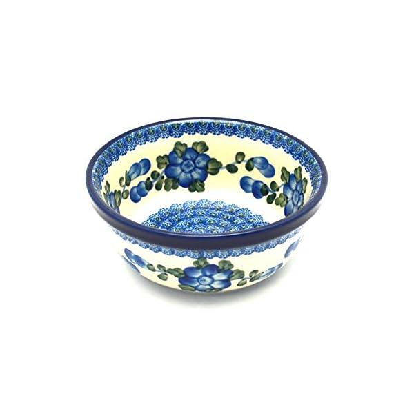 Polish Pottery Soup and Salad Bowl – Blue Poppy