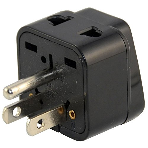 ANRANK U-U73590AK Universal EU UK AU to US USA Canada AC Travel Power Plug Adapter Converter Black