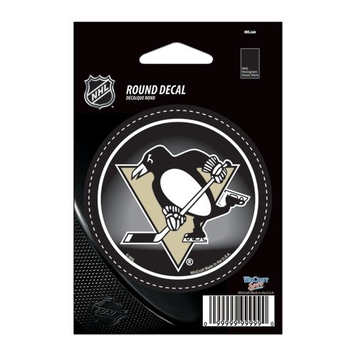 WinCraft NHL Pittsburgh Penguins WCR66214091 Round Vinyl Decal, 3