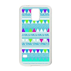 Aztec Colorful Pattern Bohemian Style Blue Polka Dot and Zigzag Design Custom For Case Iphone 5C Cover with Best Plastic