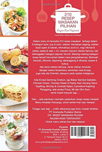 210 Resep Masakan Pilihan Ragam Rasa Terfavorit Indonesian Edition