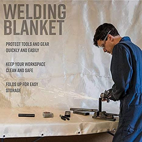 Agyle Products Welding Blanket 8 FT by 8 FT Fiberglass Protection Extra Large Welding Work Area