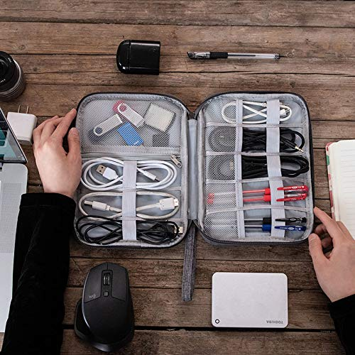 Styleys Electronics Accessories Organizer Bag, Universal Carry Travel Gadget Bag for Cables, Pendrives, Perfect Size Fits for Pad Phone Charger Hard Disk (Black - S11089)
