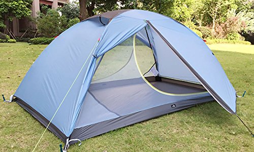 MaxMiles 1 2 Person Premium Backpacking Tent Ultra-Lightweight 20D Nylon Taffeta Rip-Stop Tent 3.4lb/1.5kg - Strong Durable Waterproof Mountain Hiking Tent- Compact One or Two Person Ultra-Light Tent by MaxMiles (Image #1)