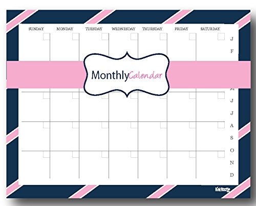 (Monthly Calendar Notepad- 50 Undated Calendar Pages Customizable to Fit Your Needs (One for Work, One for Each Kid, One for Chores, One for Pets Etc.) 8.5x11)