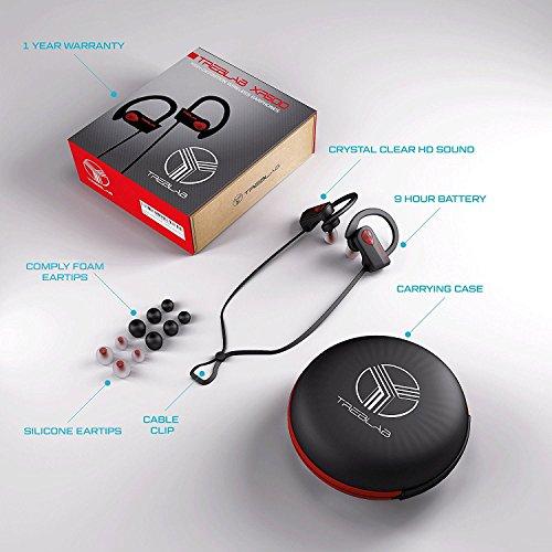treblab xr500 bluetooth headphones best wireless earbuds for sports running or gym workout. Black Bedroom Furniture Sets. Home Design Ideas