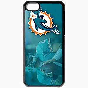 Personalized iPhone 5C Cell phone Case/Cover Skin 1355 miami dolphins Black