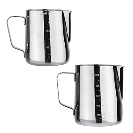 Espresso Coffee Milk Cup Mugs Thermo Steaming Frothing Pitcher
