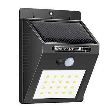 Lampe Solaire Jardin 20 Led Sans Fil Eclairage Exterieur Luminaire