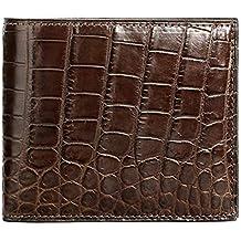 Men's Alligator Skin Wallet, Genuine Alligator Skin Fold Wallet Extravagant Gift