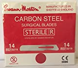 Swann-Morton® #14 Sterile Surgical Blades, Carbon Steel [individually packed, box of 100]