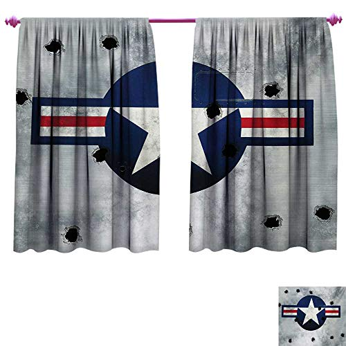 cobeDecor Airplane Customized Curtains Star on Round for sale  Delivered anywhere in USA
