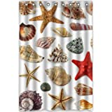 "Generic Personalized Waterproof Bath Decor Shower Curtain 48"" x 72"" - Starfish Conch Shell Style Great Design"