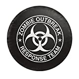 """Docooler Universal Spare Tire Cover with Zombie White Logo Car Tyre Cover Spare Wheel Cover Fit 29.5""""-32.5"""""""
