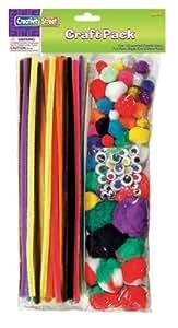 Chenille Kraft Variety Pack - Wiggle Eyes, Poms, Stems, Glitter Poms, 131-Piece