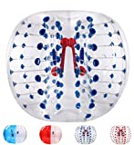 Bubble Soccer Balls Dia 5' (1.5m) Human Hamster Ball, Bubble Football,Bumper Ball, Zorbing Ball, Knocker Ball, smash ball stress ball Loopy Ball (Blue Dot)