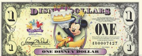 "Mickey Disney Dollar ""$1"" Bill(s) 2009 series - (See Seller comments for quantity & pricing)"