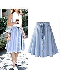 Office Skirt Dress, Women Stretchy Waist A Line...