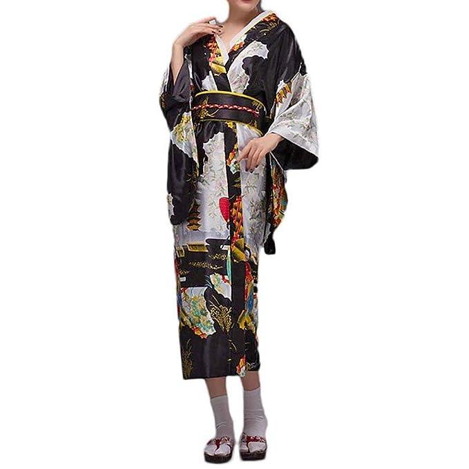 Amazon.com: HongH - Kimono tradicional japonés para mujer ...