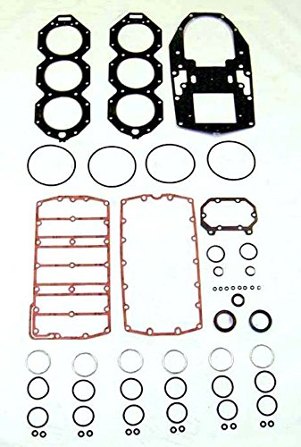 OMC / JOHNSON / EVINRUDE 200 , 225 , 250 HP 2005 & Up Complete Power Head Gasket Kit V6 3.3 Liter E-Tec WSM 500-146-03 OEM# 5006342 ()