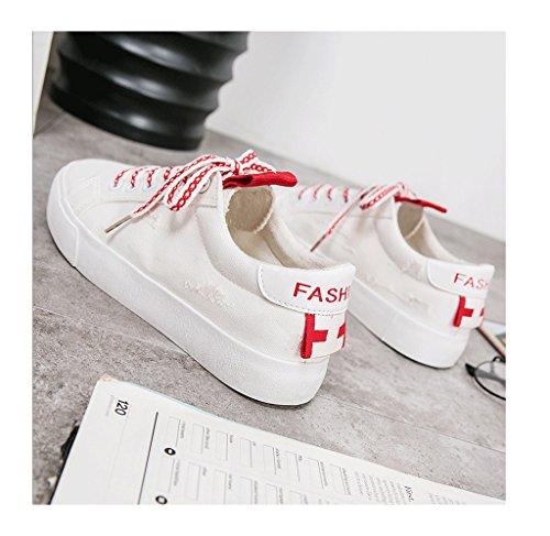 Damen atmungsaktive Segeltuchschuhe im Freien beiläufige Schuhe arbeiten flache Schuhe (3 Farben wahlweise freigestellt) ( Farbe : Schwarz , größe : 39 ) Pink