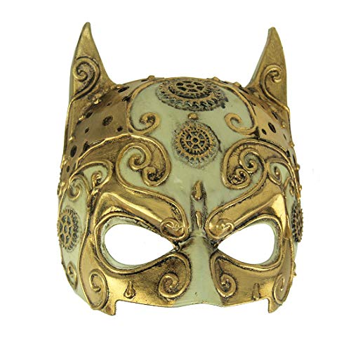 Things2Die4 Fancy Gold Adult Halloween Steampunk Devil Mask -