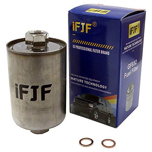 iFJF GF652 Professional Fuel Filter for Chevrolet C1500, K1500, SILVERADO 1500, C2500, SILVERADO 2500, K2500, C3500, K3500, TAHOE,Replaces GF481, F33144P, FF3504DL, GF1481, GF111, PG3727, BF853,MF1000 (Filter Fuel Cavalier Chevy)