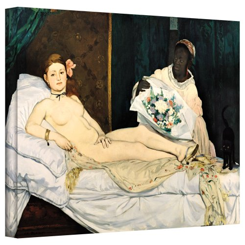 ArtWall manet-011-16x24-w Edouard Manet 'Olympia' Gallery-Wrapped Canvas Artwork, 16 by 24-Inch ()