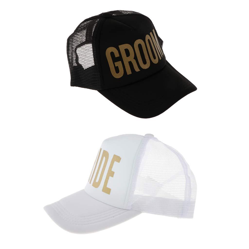 F Fityle 2pcs Creativo Sombrero de Letra Groom / Bride para ...