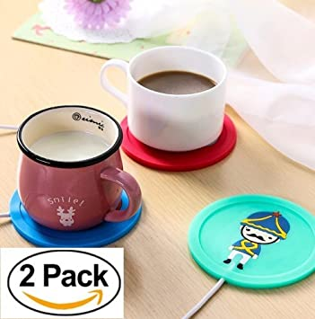 [2 Pack] – Hervidor de taza de café USB para Office/Home Use
