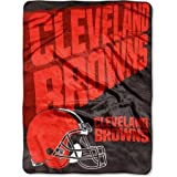 """The Northwest Company NFL Cleveland Browns 60"""" x 80"""" Oversized Micro Raschel Throw Blanket"""