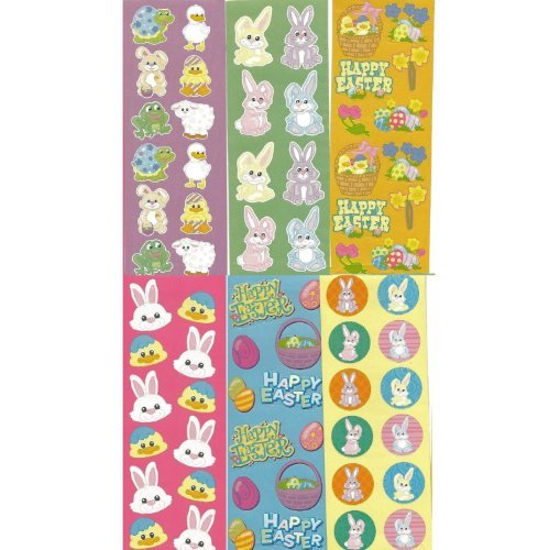 - 100 ~ Easter Sticker Sheets ~ Over 1000 Stickers ~ Sheets Approx. 2