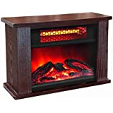Youzee 750W Infrared Quartz Mini Wood Fireplace Space Heater | LS-PCFP1056