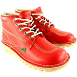Kickers Mens Kick Hi Leather Classic Oxfords Office Work Boots Shoes - Red - 12