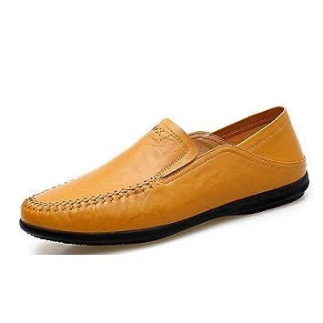 HhGold Mocasines Comfort de Cuero para Hombre/Primavera/Otoño Mocasines de Moda y Zapatillas