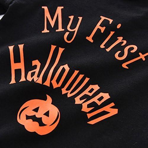 Halloween K/ürbis Hosentr/äger Rock Outfits Strampler Stirnband Kleidung Set Borlai Baby Girl Mein 1