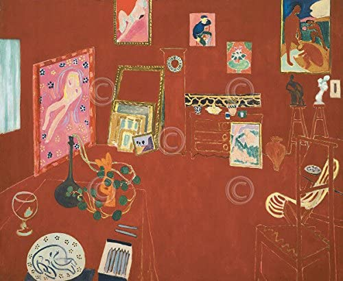 The Red Studio by Henri Matisse Art Print Museum Poster 11x14