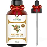 Argan Oil - 100% Pure and Natural Organic Moroccan - 4 Oz. with Glass...