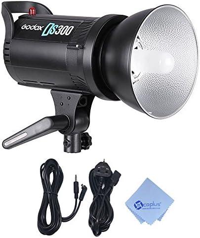 GODOX DS300 Studio Strobe Foto Blitzlicht mit Bowens Stil Mount - 300W Fotografie Monolight + Mcoplus Reinigungstuch