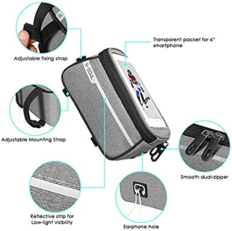 DaMohony Bike Cycling Front Frame Bag Phone Bag Waterproof Pannier Bicycle Mobile Phone Case Holder Storage Bag for Outdoor