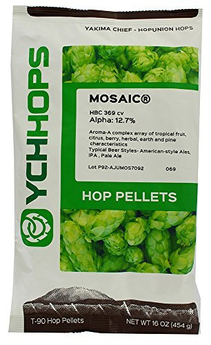 (Home Brew Ohio LD Carlson company Mosaic Hop Pellets 1LB. Alpha:13.6% Beta 3.6%)