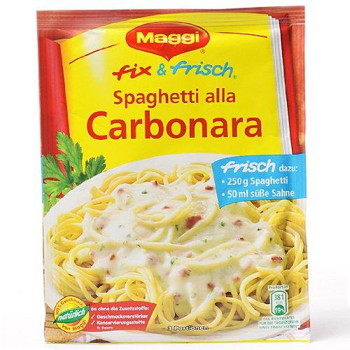 Maggi Fix (MAGGI fix & fresh Spaghetti alla Carbonara (Pack of 4))