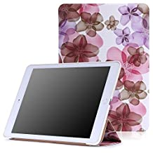 iPad Air 2 Case - MoKo Ultra Slim Lightweight Smart-shell Stand Cover Case for Apple iPad Air 2 (iPad 6) 9.7 Inch 2014 Tablet, Floral PURPLE (with Auto Sleep / wake, Not fit iPad Air 2013)
