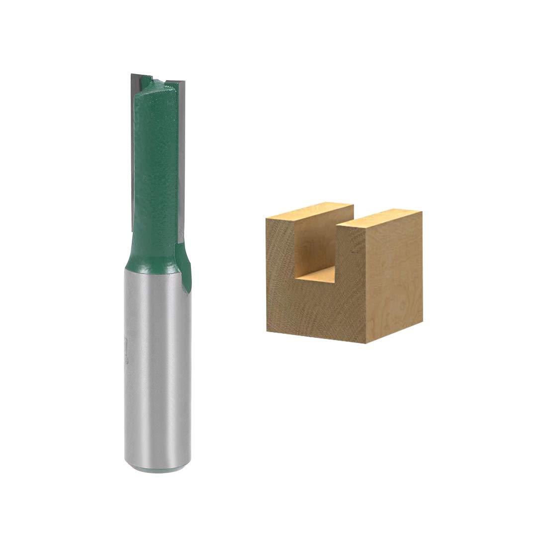 sourcing map Fr/äser 1 gerade Fl/öte Hartmetall Holzbearbeitung 1//4 Schaft 1//8Schnittdm de