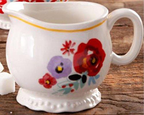 (Pioneer Woman Floral Design Stoneware Creamer Cup)