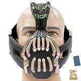 Halloween Bane Cosplay Mask with Voice Changer Modulator for Bane Jacket Coat Costume-Bronze