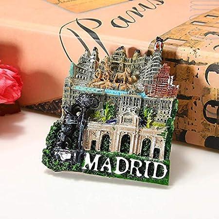 FCS Imán Decorativo 1 Unid España Viaje Recuerdo Paisaje Madrid 3D De Alta Gama Imanes De Nevera De Resina Refrigerador Regalo Pegatina Magnética Decoración del Hogar: Amazon.es: Hogar