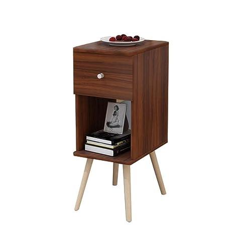 Amazon.com: Eroscg - Mesa auxiliar de noche con un cajón y ...